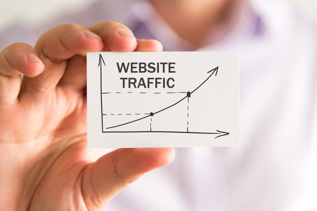 website traffic graph on paper