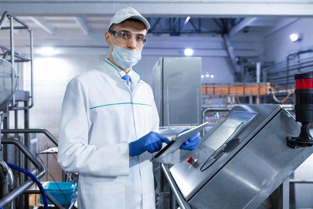 man working inside the laboratory