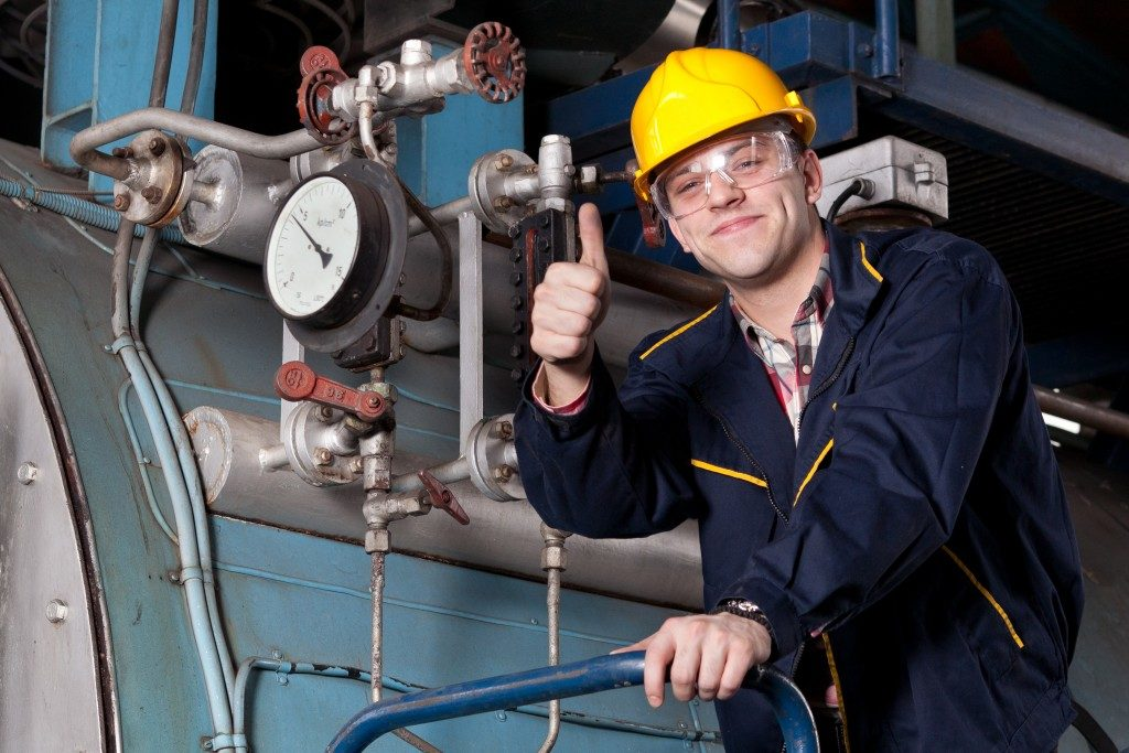 engineer giving a thumbs up