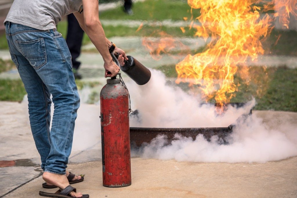 Fire safety training drill